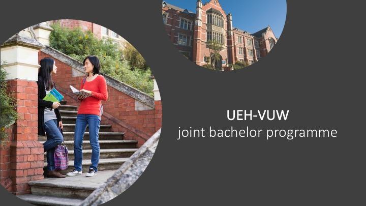 Du họcchương trình liên kết UEH-VUW